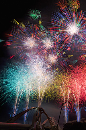 Features of fireworks displays in Japan